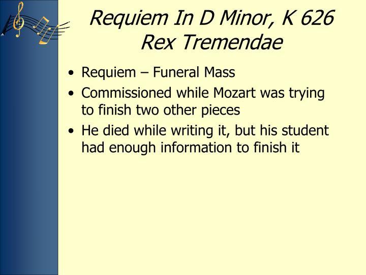 Requiem In D Minor, K 626