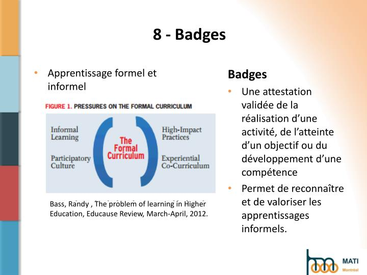8 - Badges