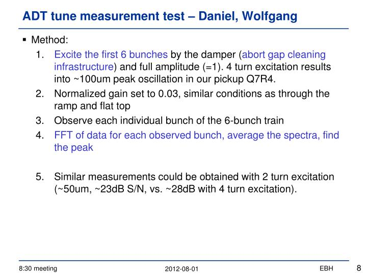 ADT tune measurement test –