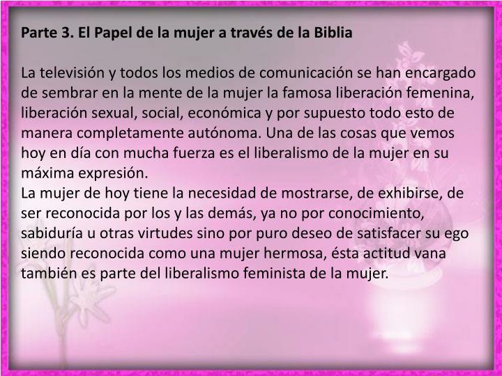 Parte 3. El Papel de la mujer a través de la Biblia