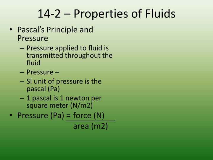 14-2 – Properties of Fluids