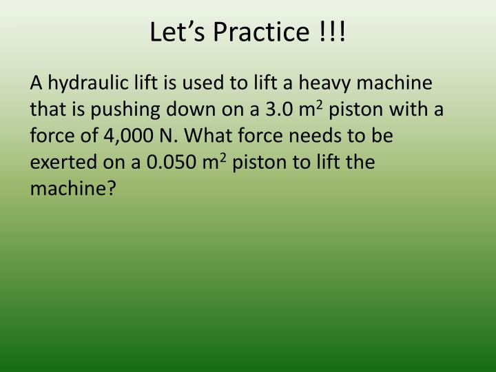 Let's Practice !!!
