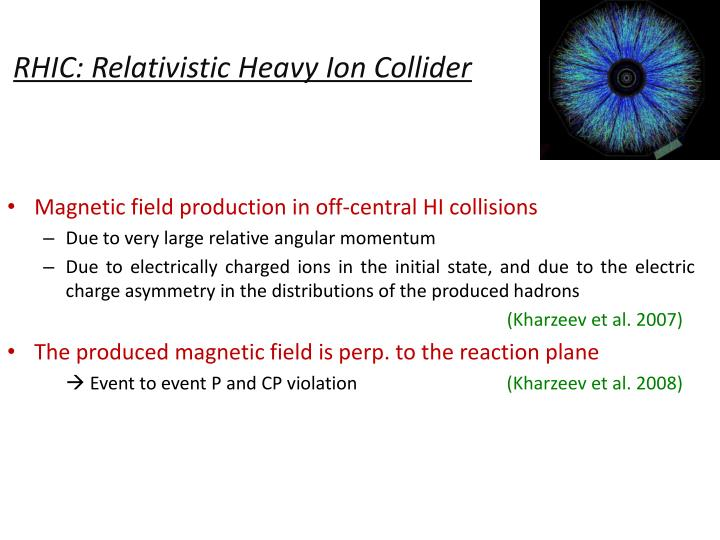 RHIC: Relativistic Heavy Ion Collider