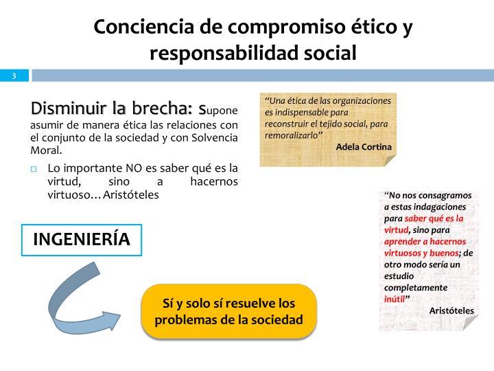 Conciencia de compromiso ético y responsabilidad social