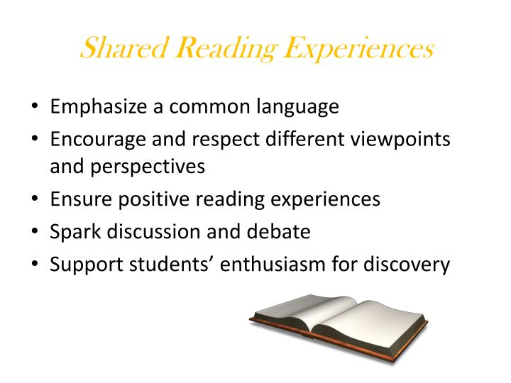 Shared Reading Experiences