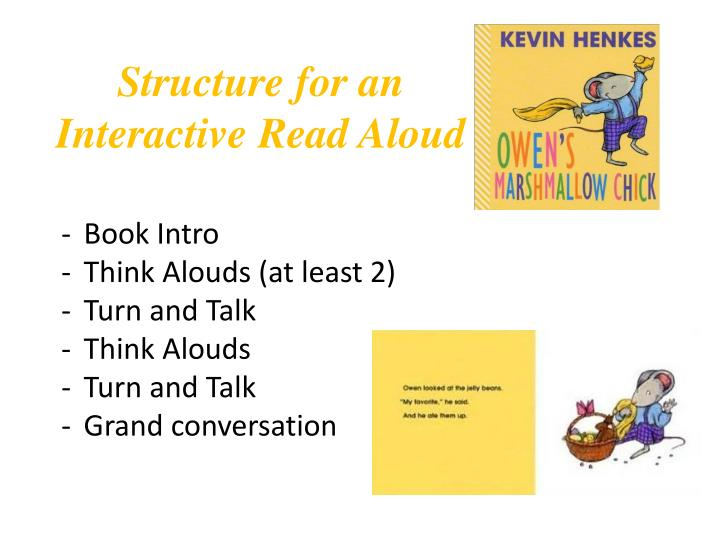 Structure for an Interactive Read Aloud