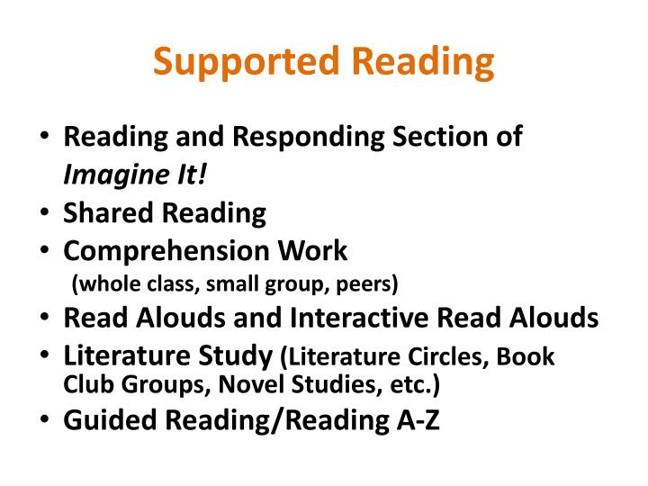 Supported Reading