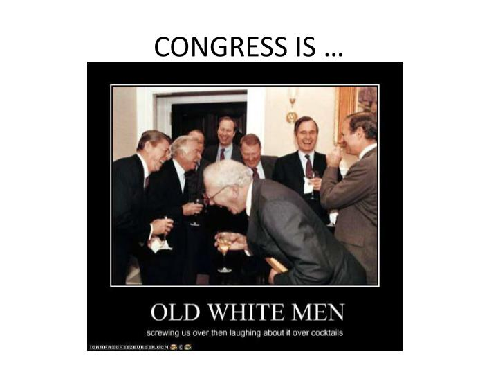 CONGRESS IS …