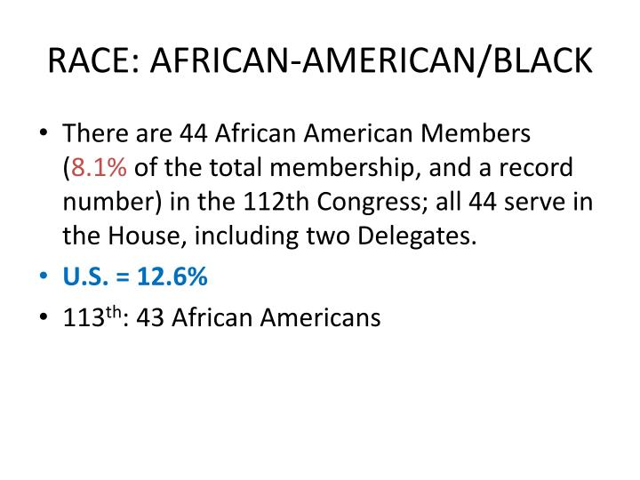 RACE: AFRICAN-AMERICAN/BLACK