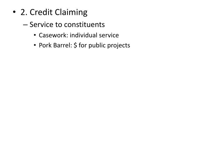 2. Credit Claiming