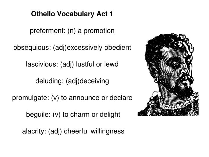 Othello Vocabulary Act 1