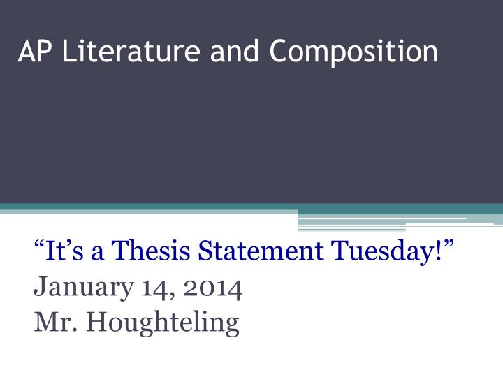 ap literature thesis statement formula
