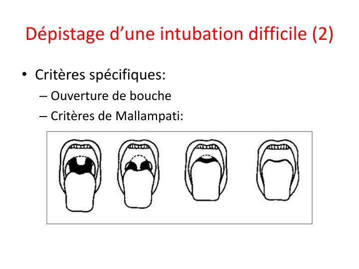 Dépistage d'une intubation difficile