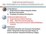 struktur penyajian md integritas wawasan kebangsaan