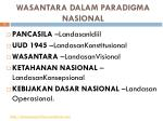 wasantara dalam paradigma nasional