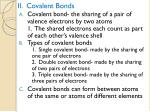 ii covalent bonds