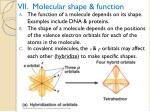vii molecular shape function