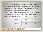 defining p 2 and q 2