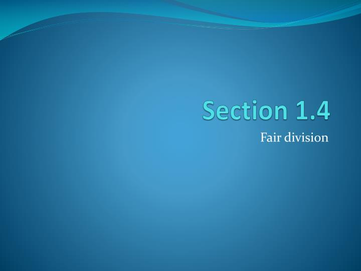 Section 1 4