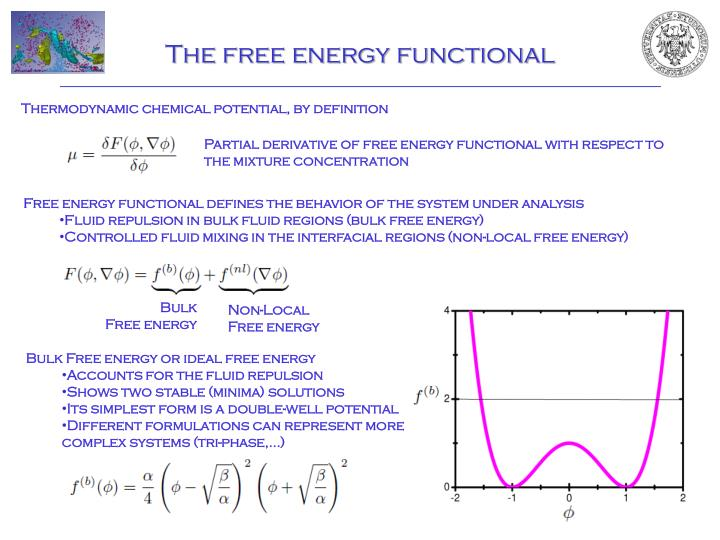 The free energy functional