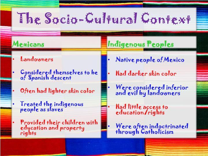 The Socio-Cultural Context