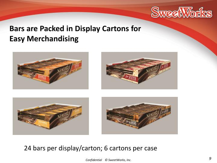 Bars are Packed in Display Cartons for