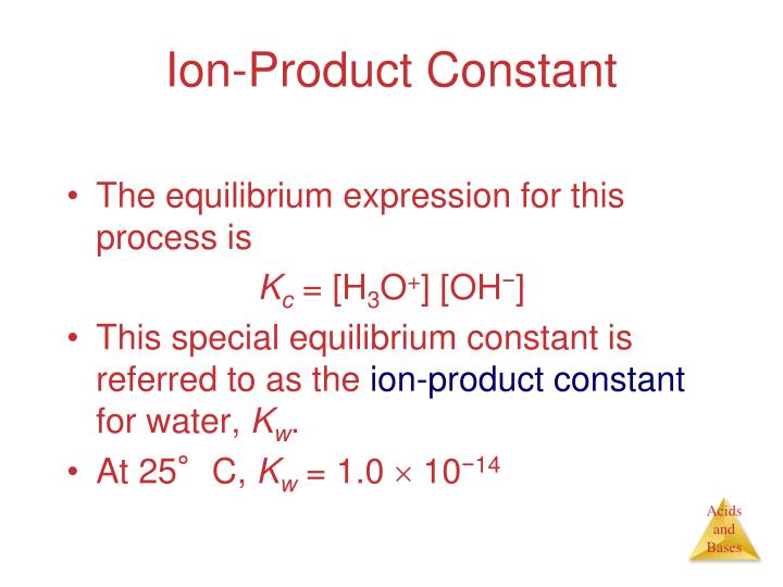 Ion-Product Constant