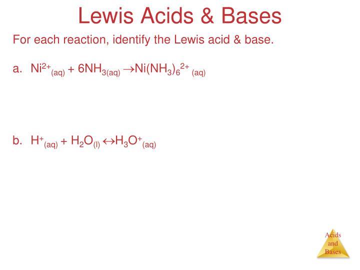 Lewis Acids & Bases