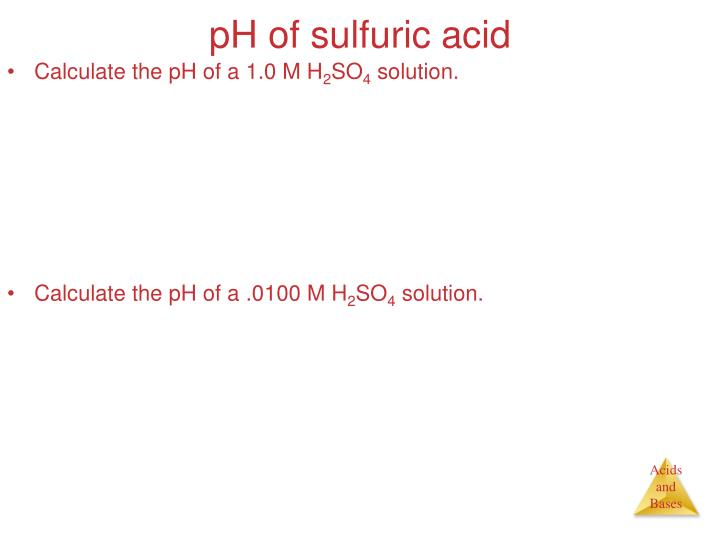 pH of sulfuric acid