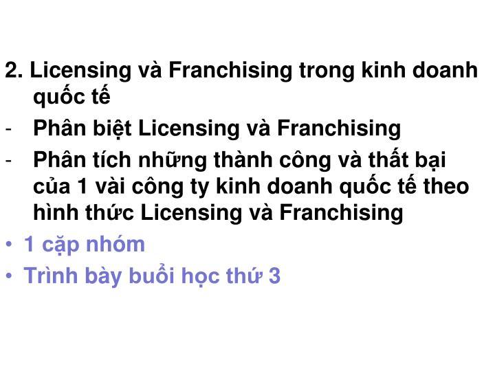 2. Licensing