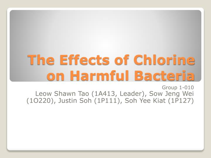 The Effects of Chlorine on