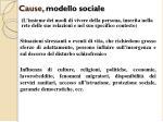 c ause modello sociale