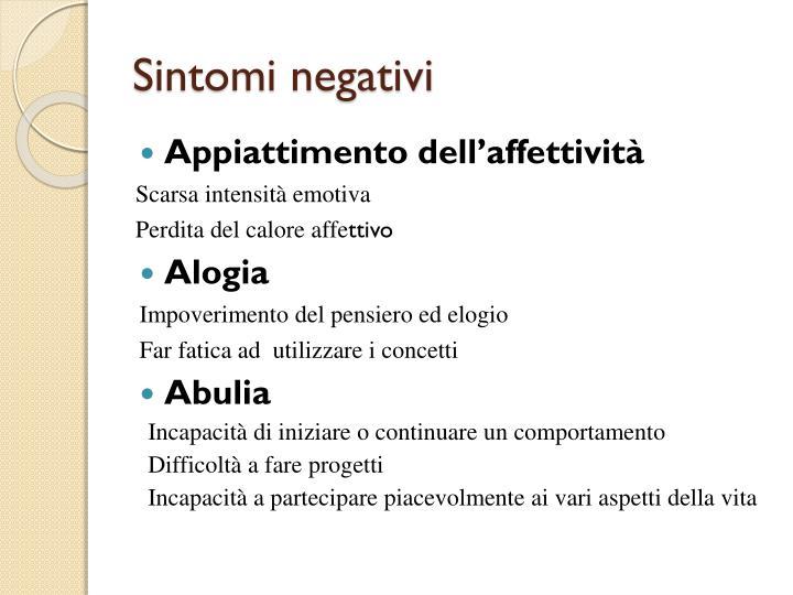 Sintomi negativi
