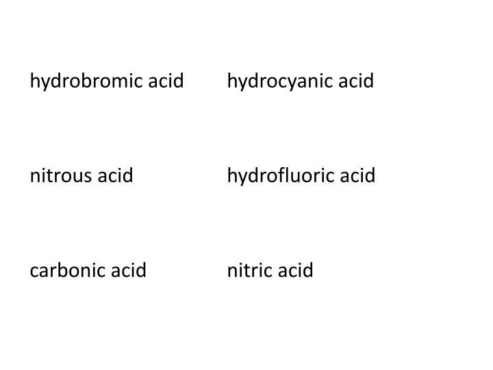 hydrobromic