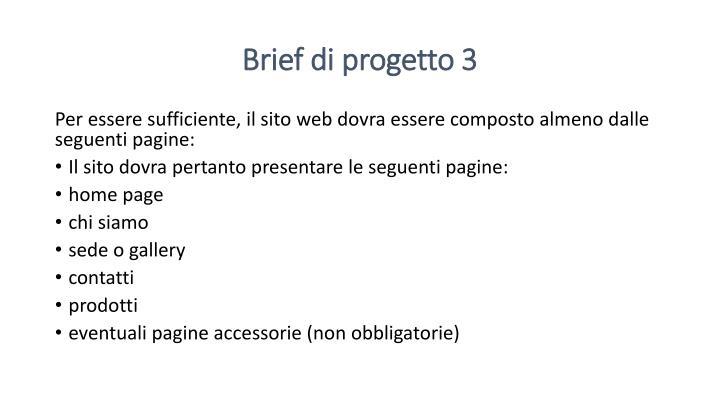 Brief di progetto 3