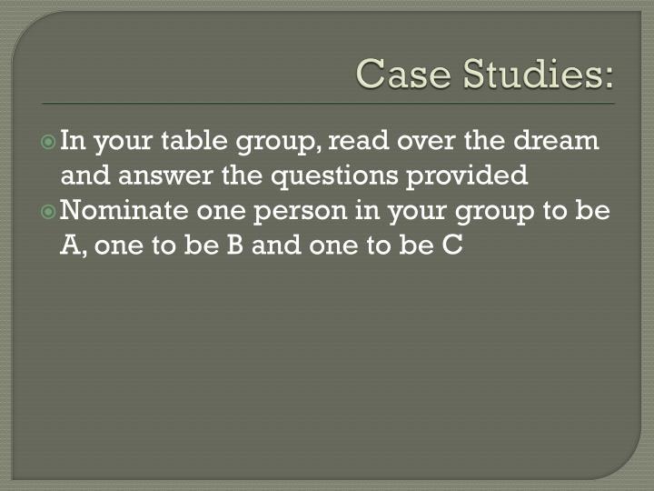 Case Studies: