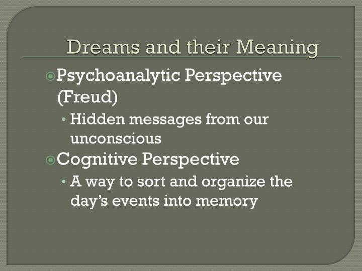 Dreams and their Meaning