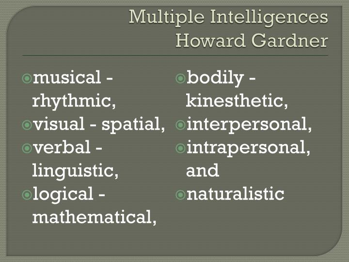 Multiple Intelligences