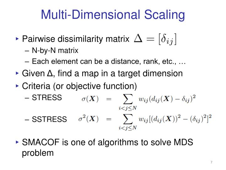 Multi-Dimensional Scaling