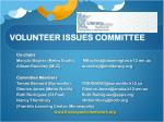volunteer issues committee