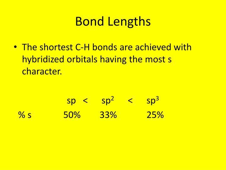 Bond Lengths
