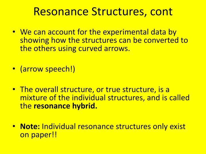 Resonance Structures,