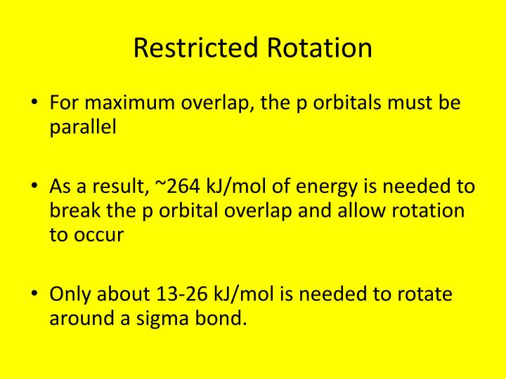 Restricted Rotation