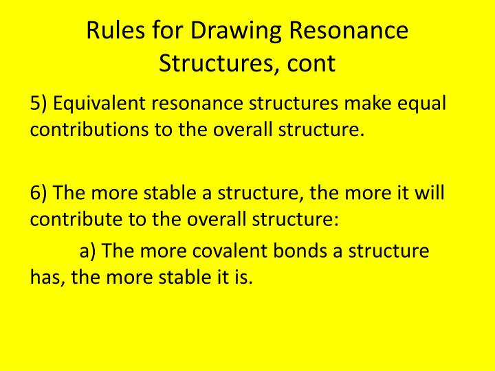 Rules for Drawing Resonance Structures,