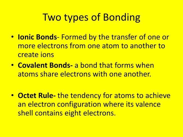 Two types of Bonding