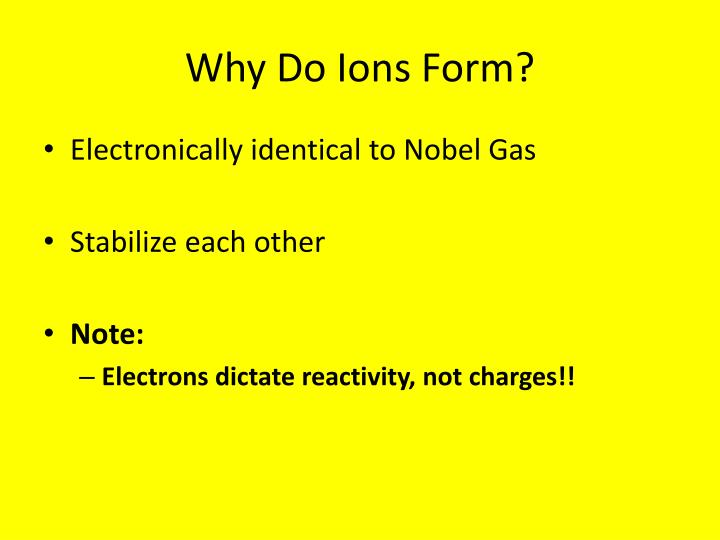 Why Do Ions Form?