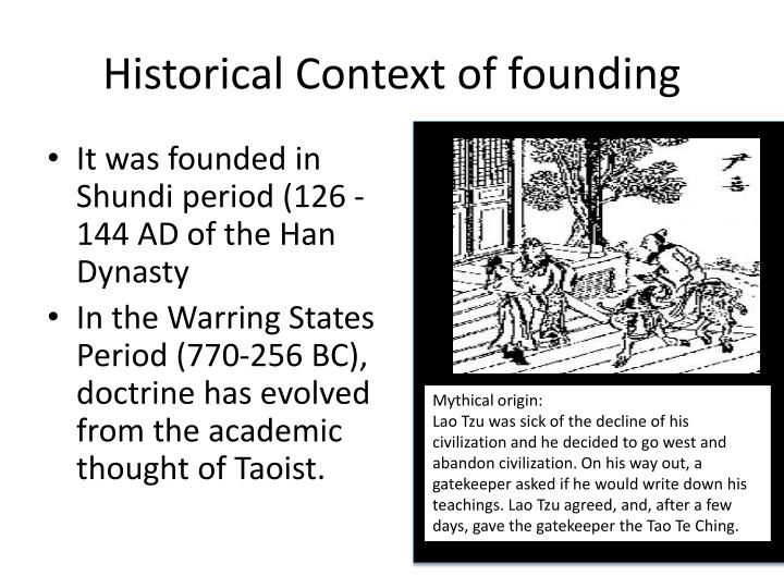 Historical Context of founding