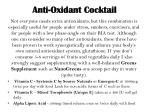 anti oxidant cocktail