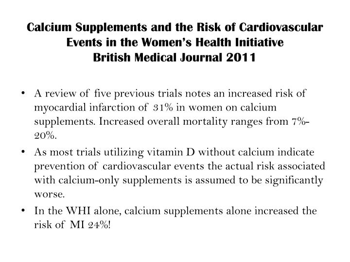 Calcium Supplements and the Risk of