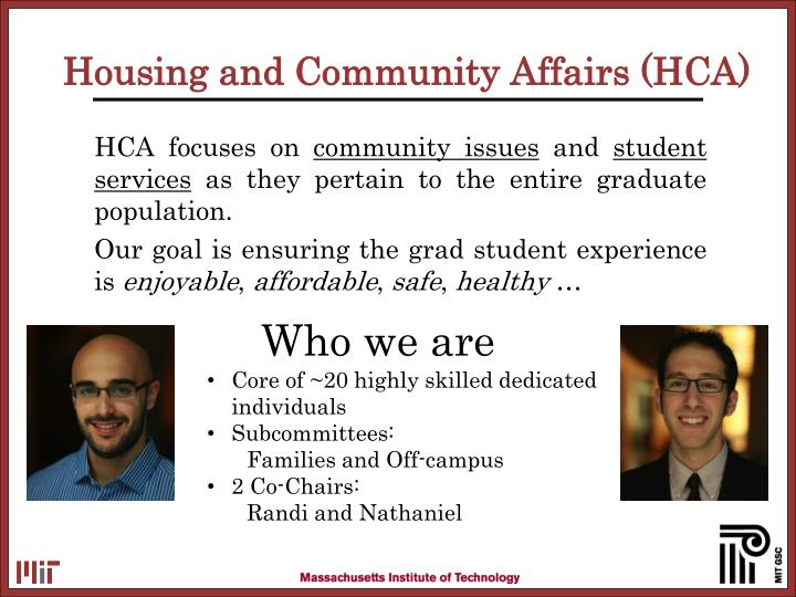 Housing and community affairs hca